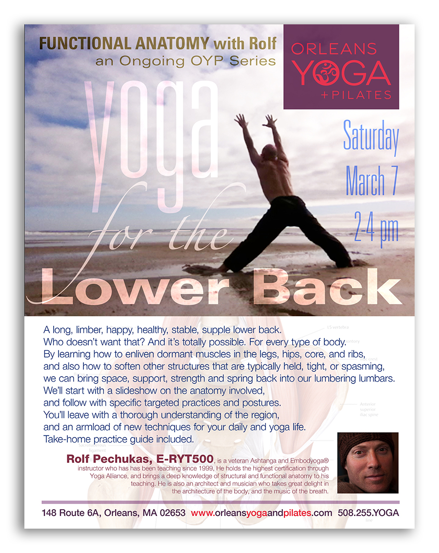 Yoga for the Lower Back ~ A FUNCTIONAL ANATOMY Workshop, with Rolf ...